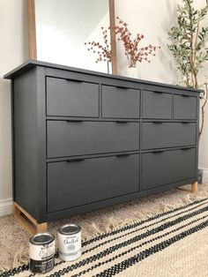 IKEA Hack: How to Update Your Furniture with Chalk Paint (and a Modern Twist) - Angela Rose Home - furniture Ikea Furniture Hacks, Ikea Hacks, Furniture Projects, Home Furniture, Modern Furniture, Ikea Bedroom Furniture, Furniture Design, Lego Bedroom, Furniture Cleaning