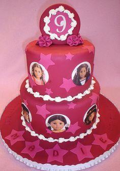 Birthday cake for EG ~ American Girl Cake by valscustomcakes, via Flickr