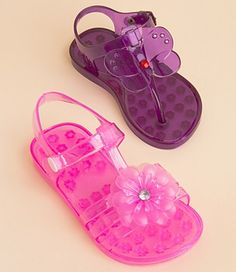Adorable Pink and Purple Girls Sandals <3 #kids #pink #purple #summer #sandals #girls #adorable