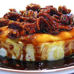 "Kahlua-Pecan-Brown Sugar Baked Brie  www.LiquorList.com  ""The Marketplace for Adults with Taste"" @LiquorListcom   #LiquorList"