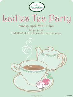 ladies tea party | Ladies' Tea Party / Calendar of Events / Tampa Bay Society / Society ...