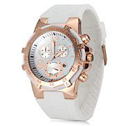 Women's Watch Rose Gold Round Dial Silicone Str... – USD $ 15.99