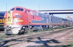 ATSF #18C (EMD F3) at Argentine, KS in August of 1968.