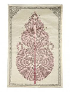 Tree of Life Pattachitra on Silk 32in x 21.5in