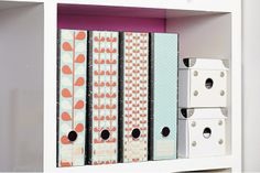 Lever Arch labels: Retro Leaf by Design-A-File