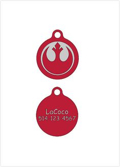 Star Wars Rebel/Quiet dog tag Plastic pet tags Custom by LaCoco725