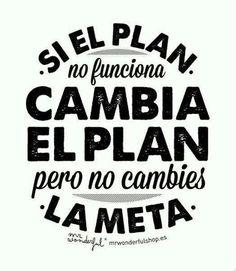Si el Plan no funciona... cambia el Plan pero no cambies la Meta..... | I didn't know it was impossible.. and I did it :-) - No sabia que era imposible.. y lo hice :-) | Scoop.it