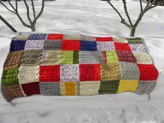 Manta de lana reciclada, viejos sueter y rebecas