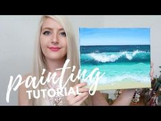 PAINTING TUTORIAL Acrylic Ocean for Beginners | Katie Jobling Art - YouTube