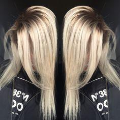 Dimensional Shadowed root blonde #olaplex #blonde #prettyhair #blondehair