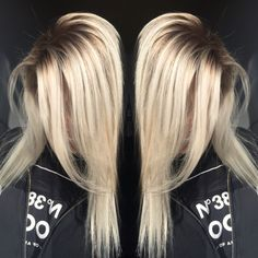 Dimensional Shadowed root blonde #olaplex #blonde #prettyhair #blondehair