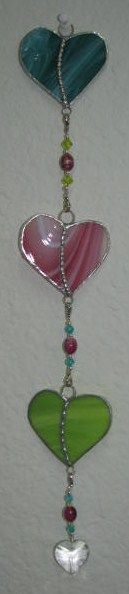 String of Hearts by Sandy Burnett, Glass Moose, Lake of the Ozarks, MO (glassmoose.com)