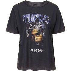 Tupac Tee by and Finally (€27) ❤ liked on Polyvore featuring tops, t-shirts, shirts, tees, blusas, black, cotton t shirts, loose tops, loose fit shirt and loose t shirt