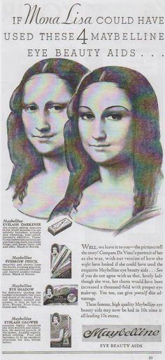 Eye makeup ad (Maybelline) (Gioconda / Mona Lisa)