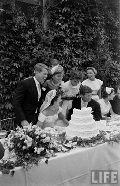 Wedding of Jackie Bouvier to John F. Kennedy. September 12, 1953