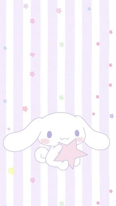 """purple & striped """"Hugging A Lovely Star"""", as collected via Sanrio"""