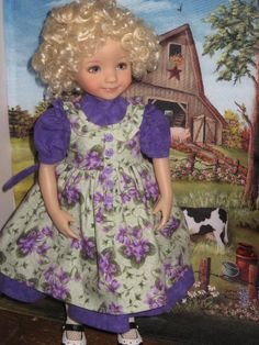 resized from Keepers Dolly Duds pattern to fit 13 inch little darling doll