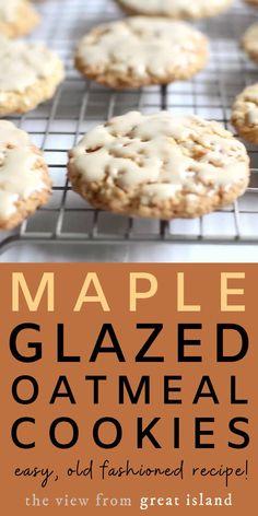 Beef Recipes, Cooking Recipes, Fall Recipes, Dinner Recipes, Oatmeal Cookie Recipes, Simple Oatmeal Cookies, Chewy Oatmeal Cookies, Cookie Flavors, Maple Cookies