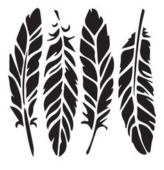 Feathers - 10 Mil Clear Mylar - Reusable Stencil Pattern Best Picture For Frame Crafts valentines For Your Taste You are looking for something, and it is going to tell you exactly what you are looking Feather Stencil, Stencil Painting, Leaf Stencil, Tree Stencil, Feather Pattern, Silhouette Cameo, Silhouette Design, Stencil Templates, Stencil Designs