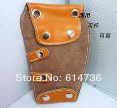 Free Shipping Genuine Leather Barber Orange scissor bag hairdressing tool bag Scissor Holster Pouch Holder Case waist pack H0048