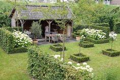 Afbeeldingsresultaat voor landelijke tuin met hortensia