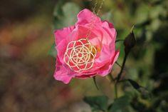 Flower of Life Gold pendant of Sacred Geometry by TzufitMoshel