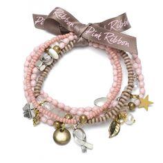Pink Ribbon bracelet.