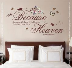 Because Someone We Love is in Heaven Quote 3D by Purrfic on Etsy