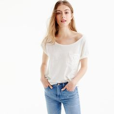 Relaxed boatneck T-shirt in TK cotton