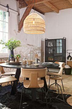 Rustic Home Interiors, Loft Interiors, French Interior, Farmhouse Interior, Dining Room Inspiration, Home Decor Inspiration, Cheap Home Decor, Diy Home Decor, Loft Interior Design