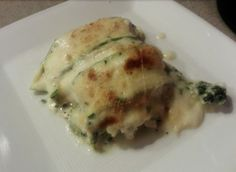 Chicken and White Cheese Zucchini Lasagna -- tried this with some friends the other night; it was amazing!! :) --K