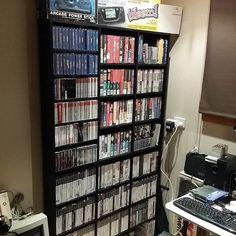 First shelves up not sorted yet bur)t still looks a lot better #retrogaming #sega #sony