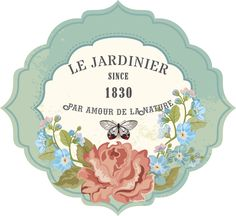 My design/Le Jardinier-Label Vintage Tags, Shabby Vintage, Vintage Labels, French Typography, Country Paintings, Victorian Art, Background Vintage, Old Art, Scrapbooking