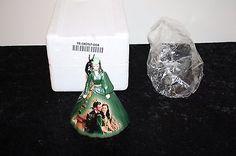 Gone With the Wind Porcelain Scarlett Green Velvet Dress Bradford Exchange #2