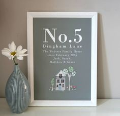 Personalised Family Home Print from notonthehighstreet.com