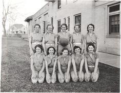 Girls' basketball champs; 1936; University Archive, Archives and Special Collections, CSU, Fort Collins, CO