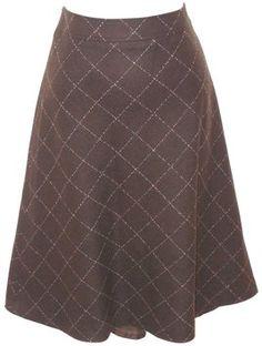 J. Crew Wool Skirt Brown