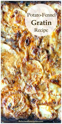 This potato gratin recipe is the perfect side dish for a weeknight or holiday gathering! Ina Gartin's Potato-Fennel Gratin Recipe is the best! WATCH THE VIDEO! Potluck Side Dishes, Side Dishes For Bbq, Potato Side Dishes, Best Side Dishes, Dinner Dishes, Side Dish Recipes, Ina Garten Scalloped Potatoes, Scalloped Potato Recipes, Paula Deen
