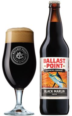 Ballast Point Brewing Co.: Black Marlin Porter (6% ABV) This is probably the best Porter I've had to date. It's surprisingly Hop forward. Just an all around solid Beer. I'd highly suggest you check this out. Prost!