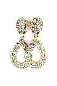 Madeline Earrings in Iridescent Crystal.