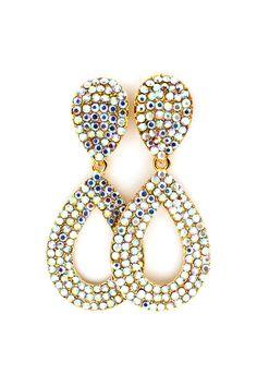 Madeline Earrings in Iridescent Crystal