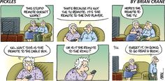 Older Couples, Cable Box, Comic Strips, Pickles, Books To Read, Humor, Comics, Reading, Crane