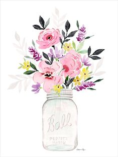On days where it's too cold (or hot!) to pick fresh wildflowers and arrange them ever-so-perfectly in a Mason jar, this art print does it for you. Stephanie Ryan Design Studio; $26 from the Country Living Shop - http://CountryLiving.com