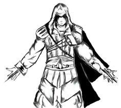 100 Idees De Coloriage Assassin S Creed Coloriage Assassin Tatouage Assassins Creed