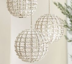 Gemma Beaded Globe Tealight Holder #potterybarn
