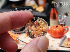 Caja de regalo de caramelos de Halloween y Trata de otoño POR ParisMiniatures