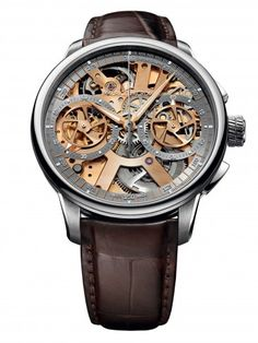 Maurice Lacroix MP7128-SS001-500 Masterpiece Le Chronographe Mechanical Skeleton Watch For Men