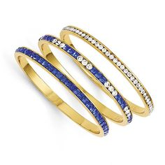 Kennedy Set Of Three Blue & White Swarovski Crystal 8in Bangles. Trusted Seller for over 5 years with Five-star rating and excellent customer service. Complete satisfaction guarantee and 30 Day no-hassle returns.