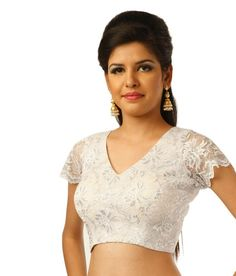 Loved it: 9rasa White Short Sleeves Lace Crochet Stitched Saree Blouse, http://www.snapdeal.com/product/9rasa-white-short-sleeves-lace/1676962750