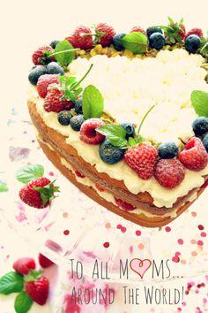 Sweet Gula: Dia da Mãe  ♥  Sponge Cake With Berries | Bolo Esponja com Frutos Vermelhos